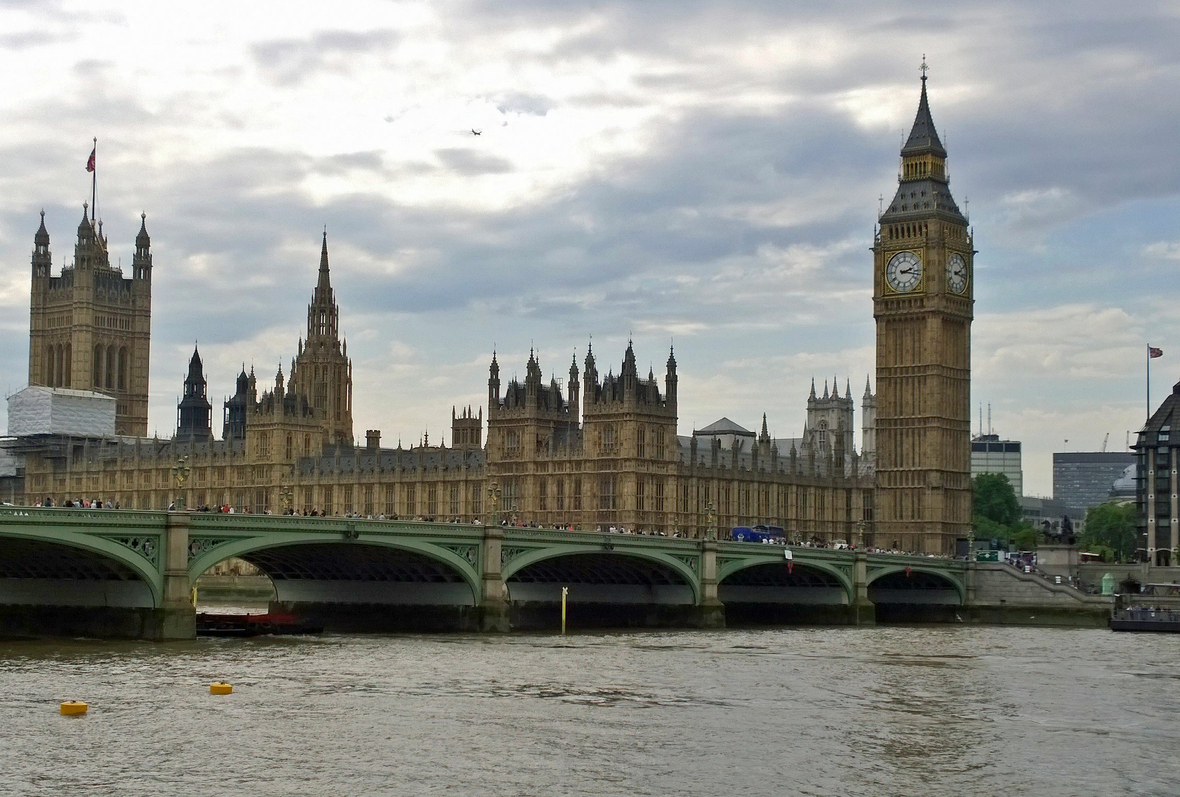 Im Palace of Westminster in London tagt das britische Parlament.